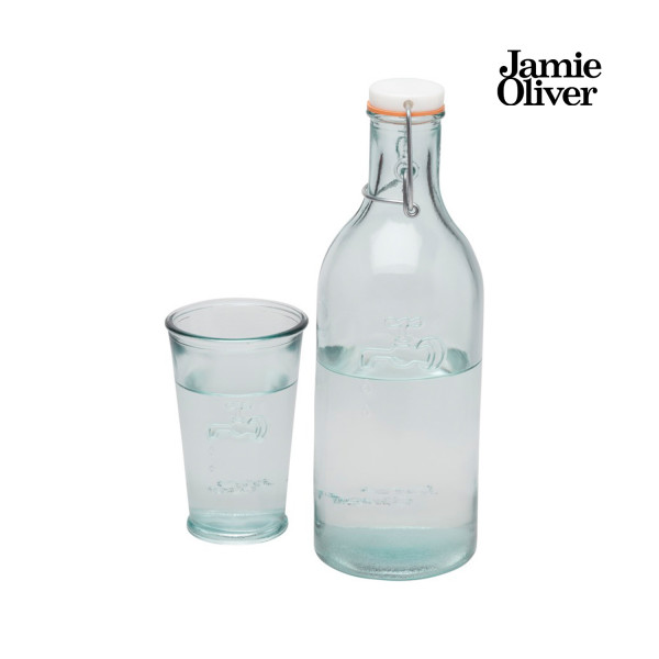 Jamie Oliver Karaffe & Glas aus Recyclingglas
