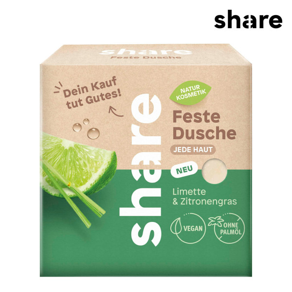 share - Feste Dusche Limette & Zitronengras