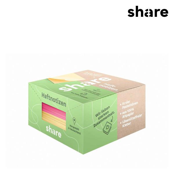 share - Haftnotizblock