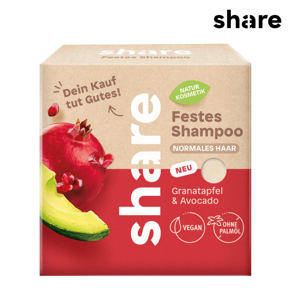 share - Festes Shampoo Granatapfel & Avocado