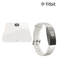 Fitbit Fitness-Tracker Inspire HR + Aria Air Bundle