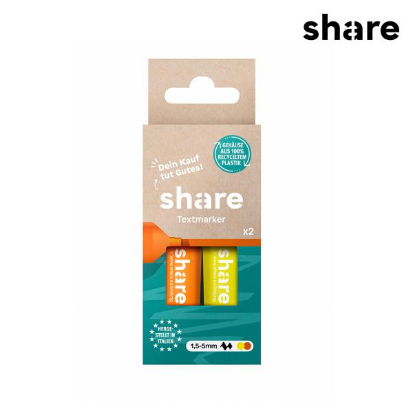 share - Textmarker 2er Set