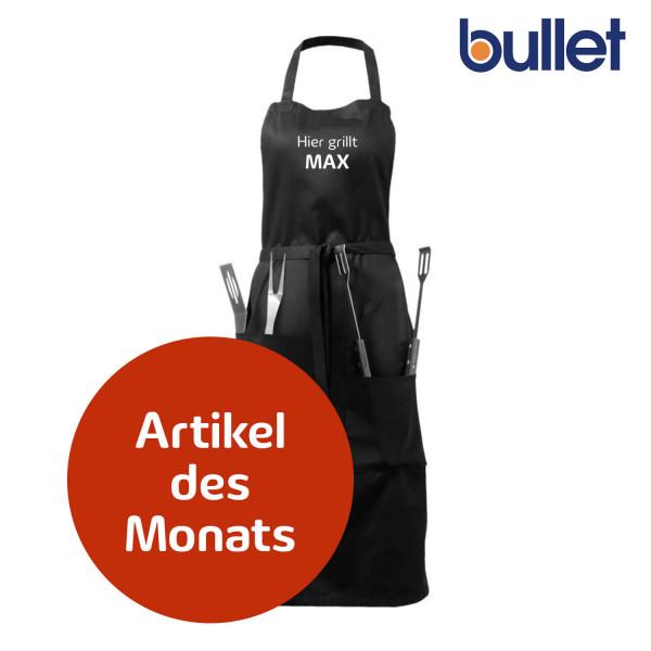 Bullet Bear Grillschürze mit Utensilien und Personalisierung